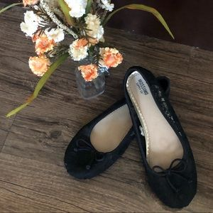 Mossimo Supply Co. Black Lace Flats